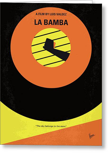 No797 My La Bamba Minimal Movie Poster Greeting Card