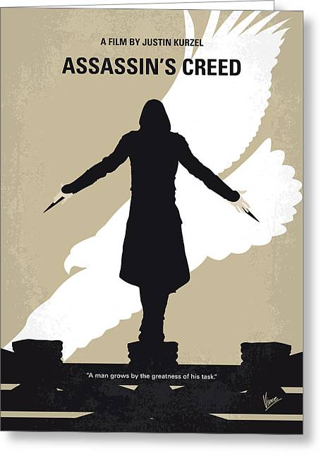 No798 My Assassins Creed Minimal Movie Poster Greeting Card