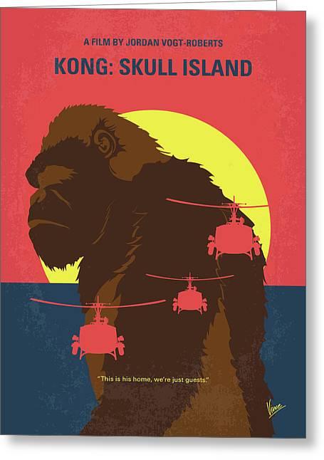 No799 My Skull Island Minimal Movie Poster Greeting Card