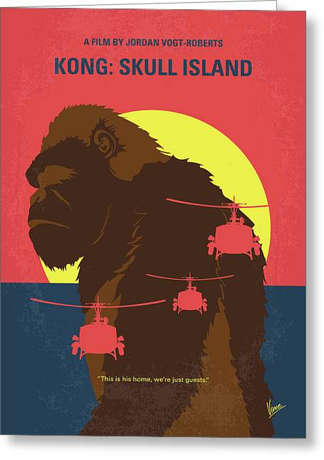 No799 My Skull Island Minimal Movie Poster Greeting Card by Chungkong Art