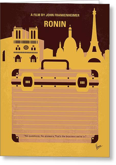 No801 My Ronin Minimal Movie Poster Greeting Card
