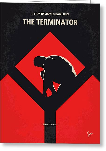 No802-1 My The Terminator 1 Minimal Movie Poster Greeting Card by Chungkong Art