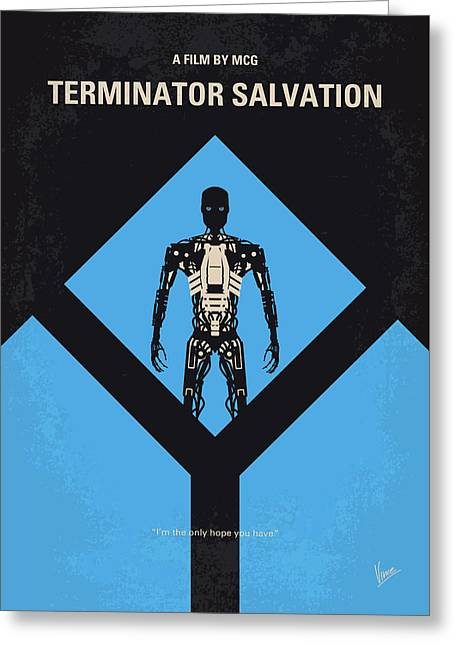 No802-4 My The Terminator 4 Minimal Movie Poster Greeting Card