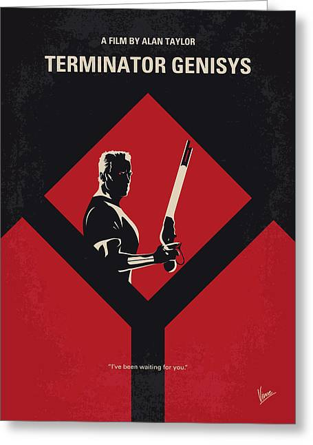 No802-5 My The Terminator 5 Minimal Movie Poster Greeting Card by Chungkong Art