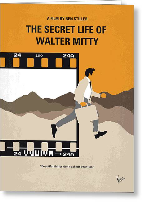 No806 My The Secret Life Of Walter Mitty Minimal Movie Poster Greeting Card