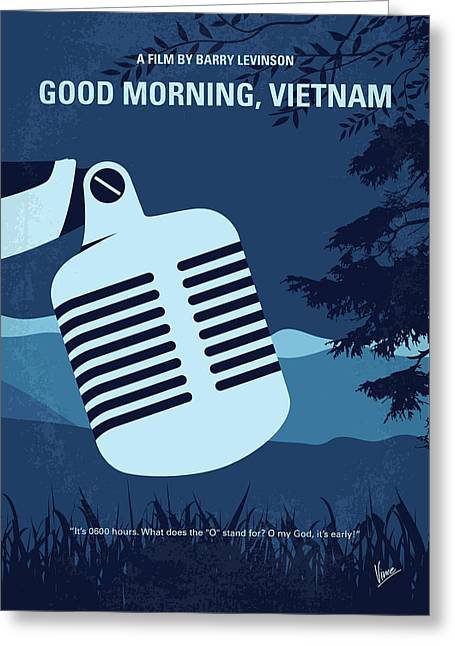 No811 My Good Morning Vietnam Minimal Movie Poster Greeting Card