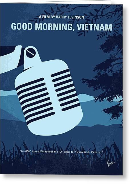 No811 My Good Morning Vietnam Minimal Movie Poster Greeting Card