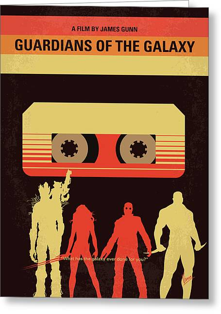 No812 My Guardians Of The Galaxy Minimal Movie Poster Greeting Card