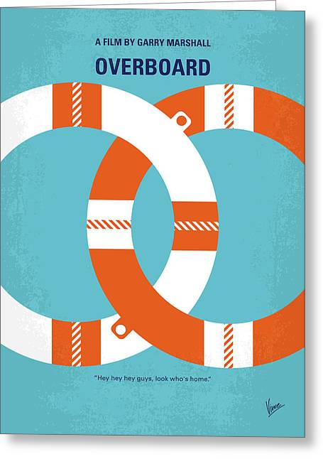 No815 My Overboard Minimal Movie Poster Greeting Card
