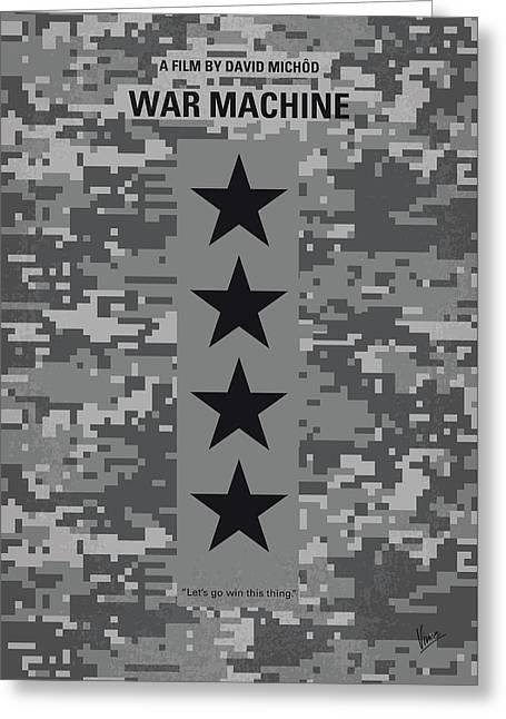 No817 My War Machine Minimal Movie Poster Greeting Card