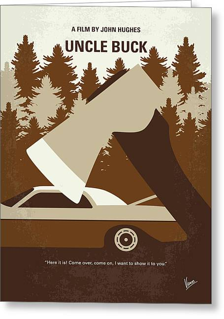 No818 My Uncle Buck Minimal Movie Poster Greeting Card