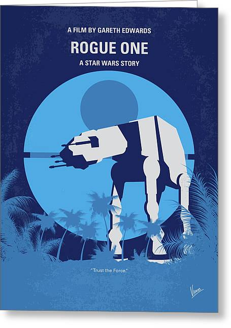 No819 My Rogue One Minimal Movie Poster Greeting Card