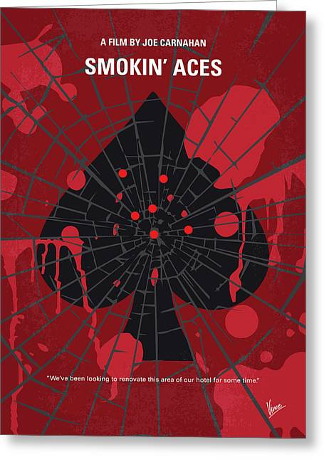 No820 My Smokin Aces Minimal Movie Poster Greeting Card by Chungkong Art