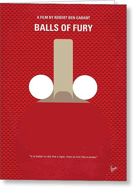 No822 My Balls Of Fury Minimal Movie Poster Greeting Card