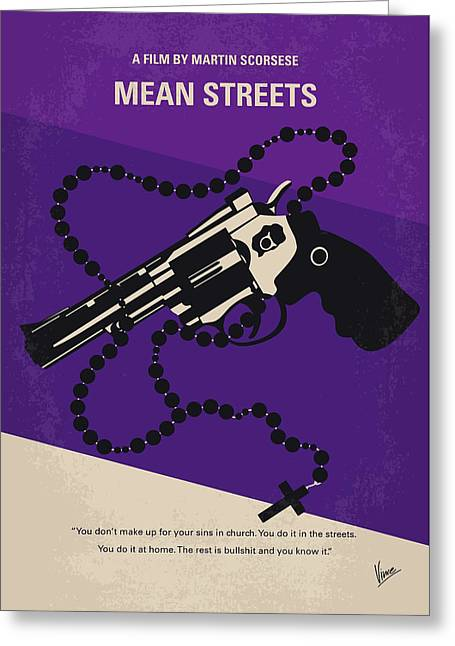 No823 My Mean Streets Minimal Movie Poster Greeting Card