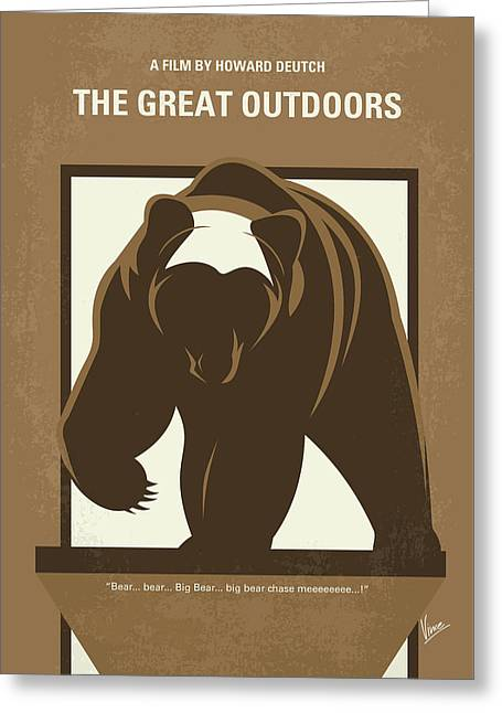 No824 My The Great Outdoors Minimal Movie Poster Greeting Card