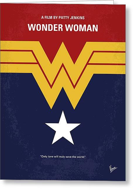 No825 My Wonder Woman Minimal Movie Poster Greeting Card