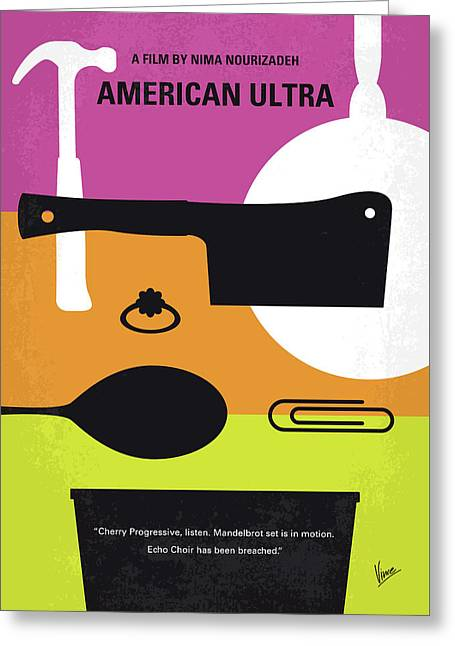 No827 My American Ultra Minimal Movie Poster Greeting Card