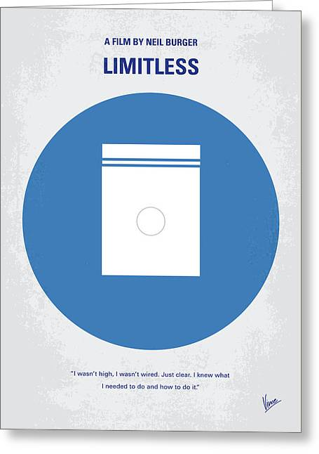 No828 My Limitless Minimal Movie Poster Greeting Card
