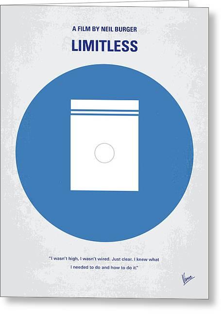 No828 My Limitless Minimal Movie Poster Greeting Card