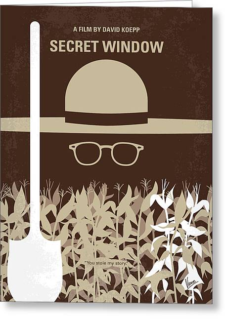 No830 My Secret Window Minimal Movie Poster Greeting Card