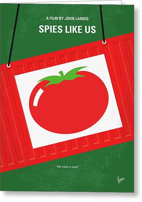 No831 My Spies Like Us Minimal Movie Poster Greeting Card