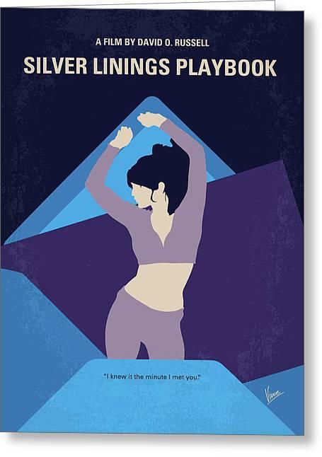 No832 My Silver Linings Playbook Minimal Movie Poster Greeting Card