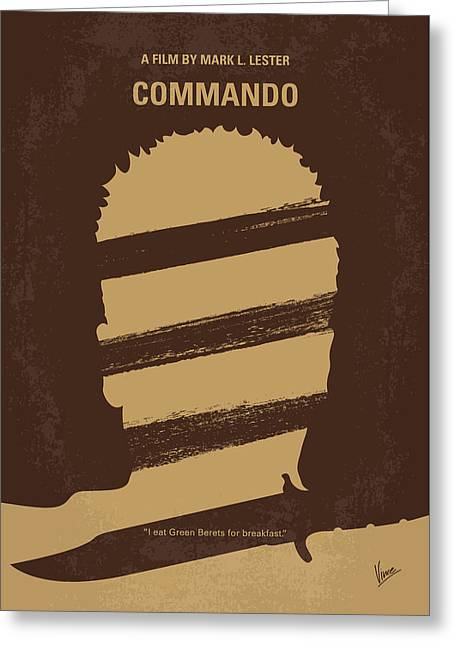 No834 My Commando Minimal Movie Poster Greeting Card