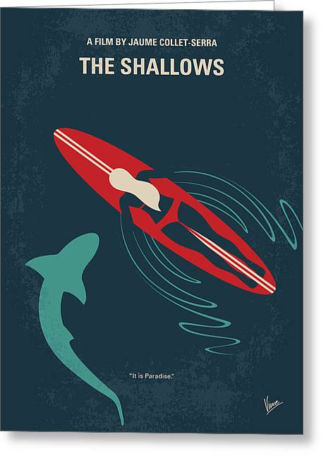 No836 My The Shallows Minimal Movie Poster Greeting Card