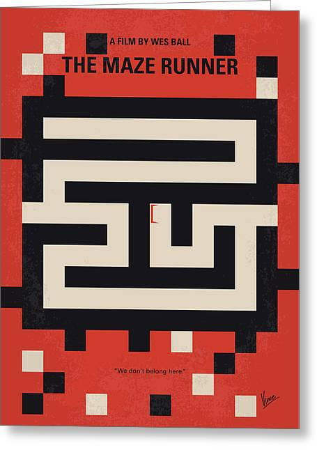 No837 My The Maze Runner Minimal Movie Poster Greeting Card