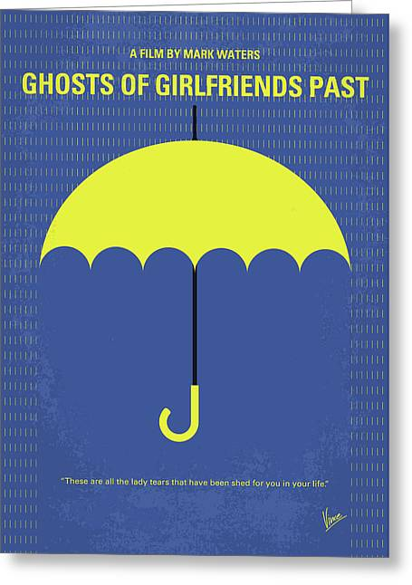 No839 My Ghosts Of Girlfriends Past Minimal Movie Poster Greeting Card
