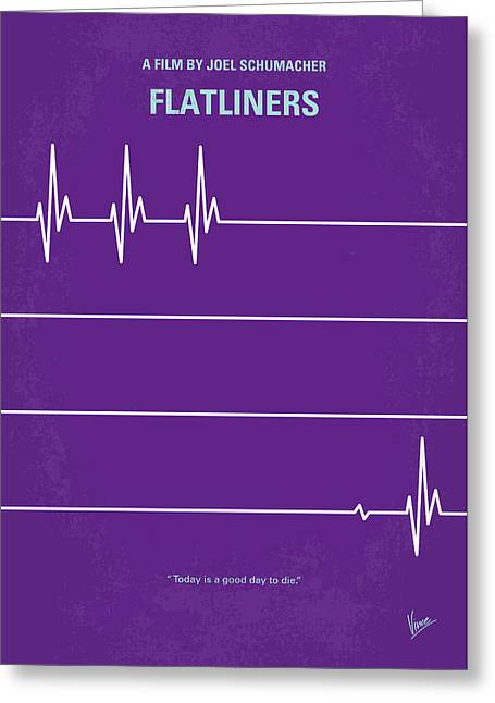 No841 My Flatliners Minimal Movie Poster Greeting Card