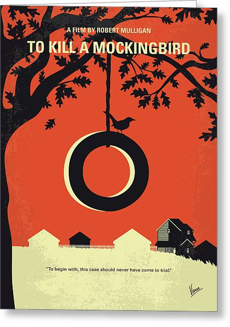 No844 My To Kill A Mockingbird Minimal Movie Poster Greeting Card