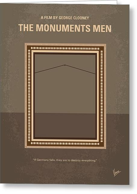 No845 My The Monuments Men Minimal Movie Poster Greeting Card
