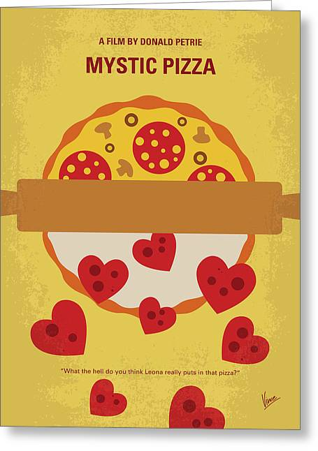 No846 My Mystic Pizza Minimal Movie Poster Greeting Card