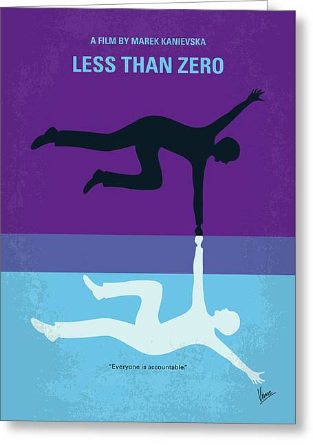 No848 My Less Than Zero Minimal Movie Poster Greeting Card
