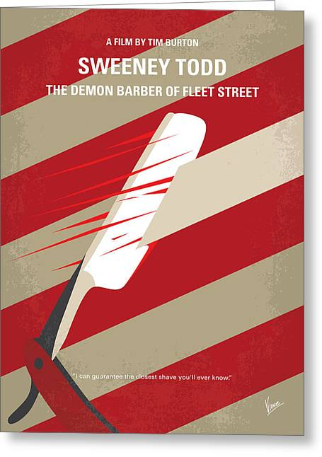 No849 My Sweeney Todd Minimal Movie Poster Greeting Card