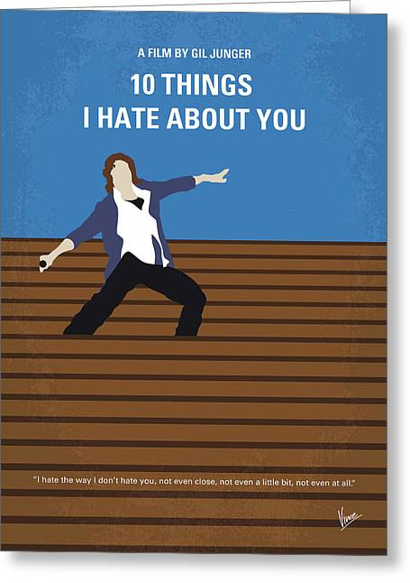 No850 My 10 Things I Hate About You Minimal Movie Poster Greeting Card