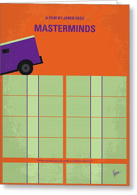 No851 My Masterminds Minimal Movie Poster Greeting Card