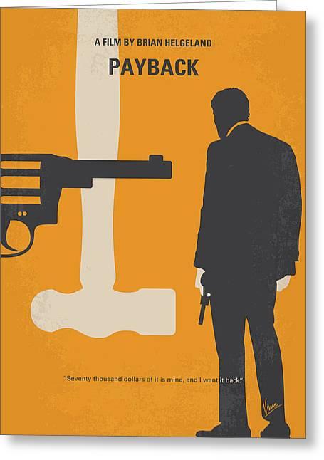 No854 My Payback Minimal Movie Poster Greeting Card