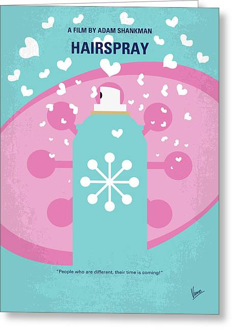 No856 My Hairspray Minimal Movie Poster Greeting Card