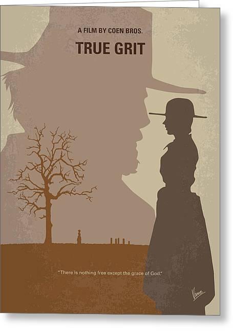 No860 My True Grit Minimal Movie Poster Greeting Card
