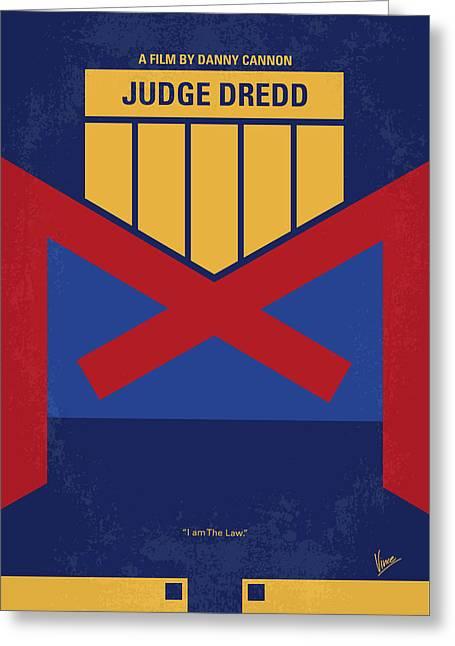 No861 My Dredd Minimal Movie Poster Greeting Card