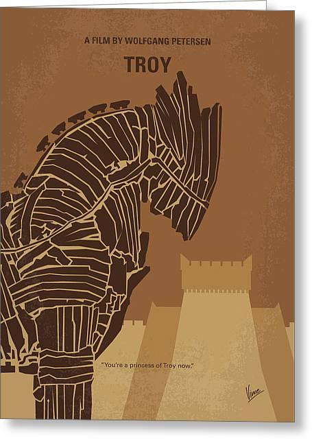 No862 My Troy Minimal Movie Poster Greeting Card