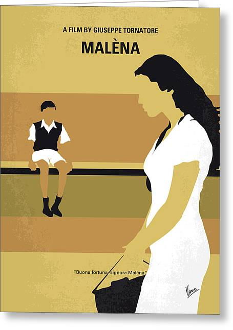 No870 My Malena Minimal Movie Poster Greeting Card