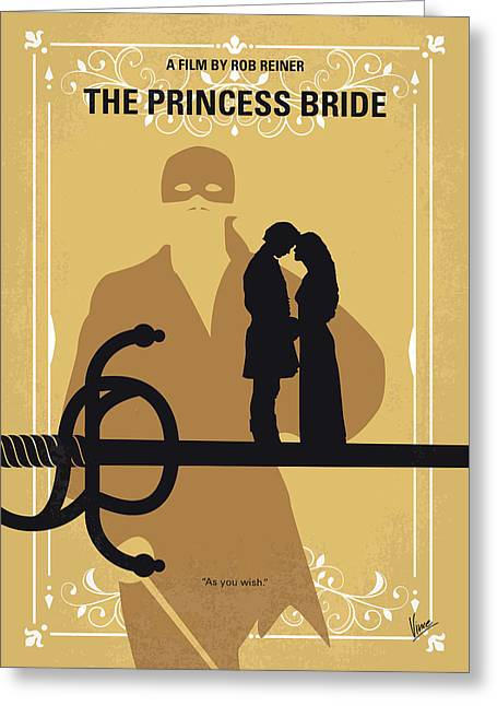 No877 My The Princess Bride Minimal Movie Poster Greeting Card