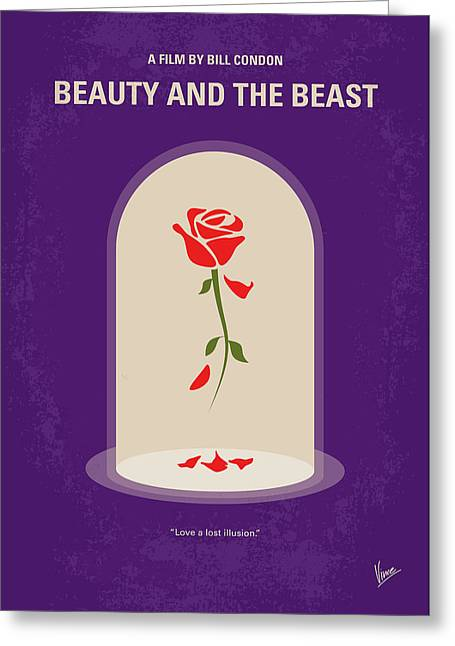 No878 My Beauty And The Beast Minimal Movie Poster Greeting Card