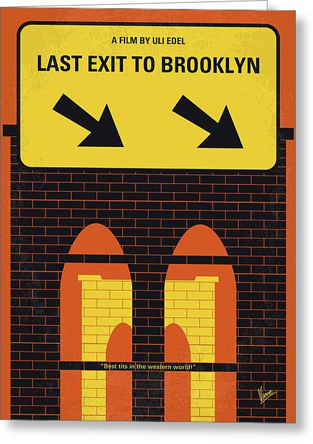 No879 My Last Exit To Brooklyn Minimal Movie Poster Greeting Card