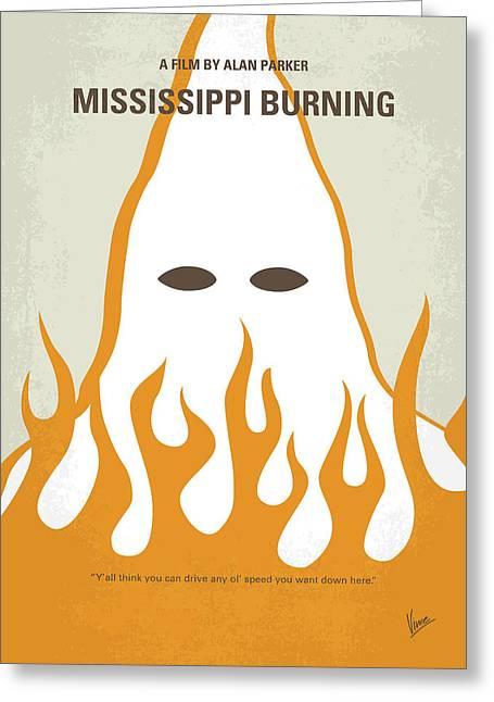 No882 My Mississippi Burning Minimal Movie Poster Greeting Card