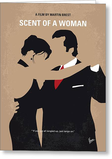 No888 My Scent Of A Woman Minimal Movie Poster Greeting Card